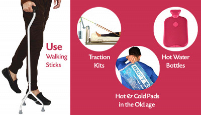 Why Use Walking Sticks, Traction Kits, Hot Water Bottles and Hot & Cold Pads in the Old age?